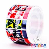【奇奇文具】【ESTAPE】RHS5018 抽取式易撕貼 OPP 膠帶/創意膠帶/裝飾膠帶 (瘋國旗版組合)