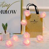 led玫瑰彩燈閃燈串燈滿天星少女心房間裝飾浪漫婚禮布置婚慶用品