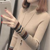 【好康618】女加厚秋冬新款修身顯瘦套頭針織打底衫