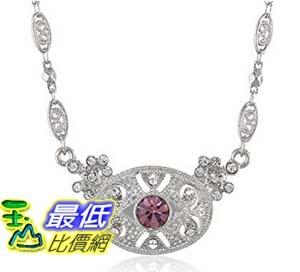 [美國直購] Downton Abbey Boxed Silver-Tone Light Amethyst Crystal Pendant Necklace, 16 項鍊