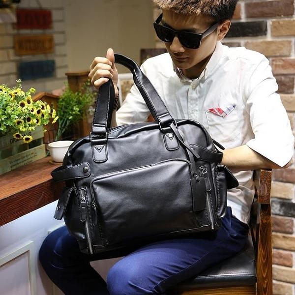 男包休閒單肩包斜挎包手提包男士皮包背包商務旅行包潮大容量新款 快速出貨
