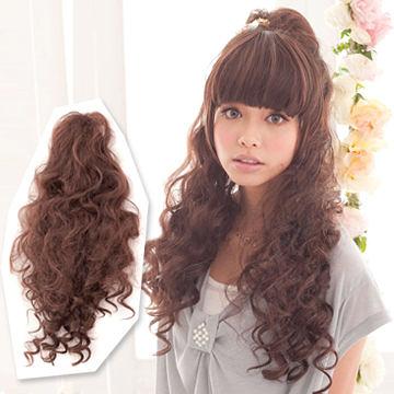 髮包式-嬌甜公主系捲髮馬尾【MF014】HOT!材質再升級新耐熱假髮☆雙兒網☆