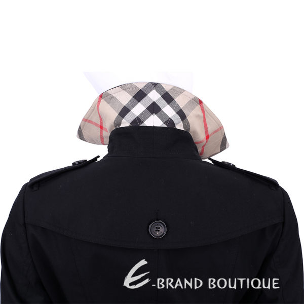 BURBERRY QUEENSHOUSE 雙排釦風衣外套(黑色) 1540254-01