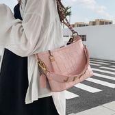 鍊條包小包包洋氣女包潮韓版百搭質感斜背包時尚鍊條側背流浪包 美物居家