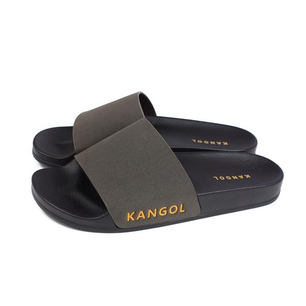 KANGOL 拖鞋 戶外 男鞋 深咖啡色 6025220302 no095