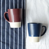 馬克杯  啞光灰色水杯大容量辦公用家用喝水日式創意馬克杯陶瓷咖啡牛奶杯