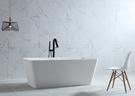 【麗室衛浴】BATHTUB WORLD方型人造石獨立缸蛋殼系列 160*75*H55CM