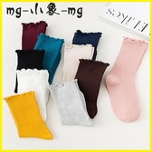 MG 堆堆襪-堆堆襪薄款純棉中筒襪日系花邊長襪