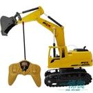 兒童挖掘機挖土機玩具遙控車工程車男孩玩具電動合金可充電可遙控