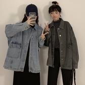 原宿風寬鬆bf學生工裝牛仔外套女韓版2020秋裝新款潮學生『蘑菇街小屋』