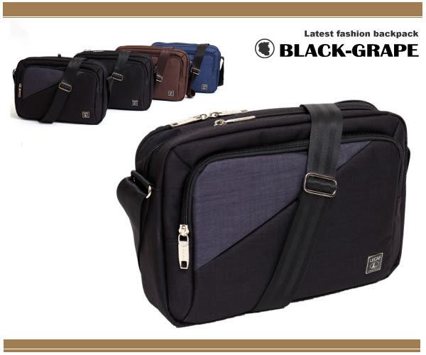 幾何拼布斜口袋韓國帆布側背包 /斜背包【C6505】黑葡萄包包