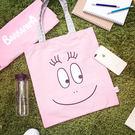 PGS7 泡泡先生系列商品 - BARBAPAPA 泡泡先生 帆布 手提袋 獨家首賣 購物袋 帆布袋 粉紅【SIZ7622】