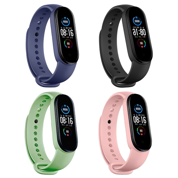 99免運 小米手環6 小米手環 5 小米手環4 3 通用 矽膠腕帶 手錶錶帶 腕帶 替換帶 錶帶 防水 運動錶帶