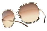 Chloe 太陽眼鏡 CE129S 784 (金-漸層棕鏡片) 雙邊造型款 墨鏡 # 金橘眼鏡