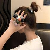 頭飾 扎馬尾粗頭繩女髮圈韓國韓版網紅扎頭髮ins丸子頭皮筋髮繩頭飾