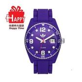 Adidas 台灣授權代理公司貨 出清7折 街頭多彩格紋矽膠腕錶 ADH6176 紫色