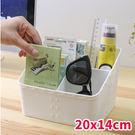 收納盒 藤編造型分格收納盒-20*14cm 【BNP034】收納女王