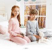 兒童內衣套裝純棉寶寶大童保暖紅豆男孩男童12女童15秋衣秋褲套裝『美優小屋』