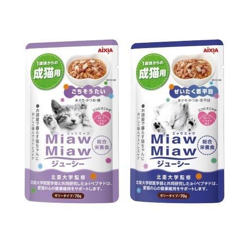 *WANG*【12包組】日本 AIXIA 愛喜雅《妙喵主食軟包系列》70g/包 貓餐包 多種口味可選