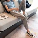2020夏季薄款運動褲女褲子寬鬆束腳九分直筒灰色顯瘦燈籠休閒衛褲‧運動 萬聖節狂歡價