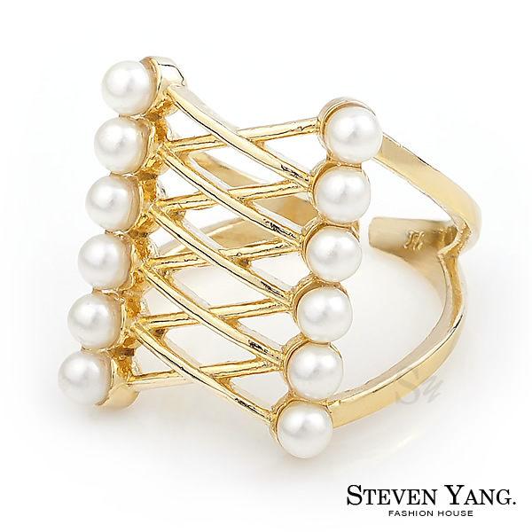 戒指 正白K飾 6排珍珠 韓劇相似款 正韓貨