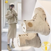 雪地靴女英秋冬季加絨馬丁靴加厚百搭棉鞋短靴子【雲木雜貨】