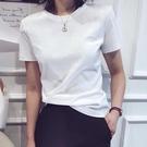 【Charm Beauty】白色t恤女 情侶短袖 2021年 新款 夏裝 寬鬆 韓版 學生 開學季 上衣服ins潮