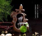 精品倒流香爐沉香熏爐檀香爐小和尚如來香爐佛具擺件陶瓷香薰爐