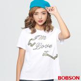BOBSON 女款綁繩緞帶刺繡上衣(28076-80)