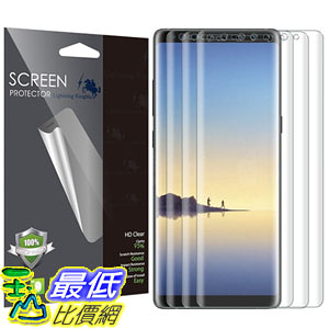[106美國直購] 保護膜 [3 PACK] Samsung Galaxy Note 8 Screen Protector (Case Friendly) B073QGPWF4