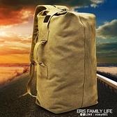 後背包戶外旅行水桶背包帆布登山運動男ins超火個性大容量行李包 艾瑞斯