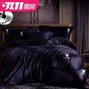 【貝兒寢飾】PLAYBOY 裸睡系列60支素色萊賽爾天絲兩用被床包組(雙人/曼迪妮)