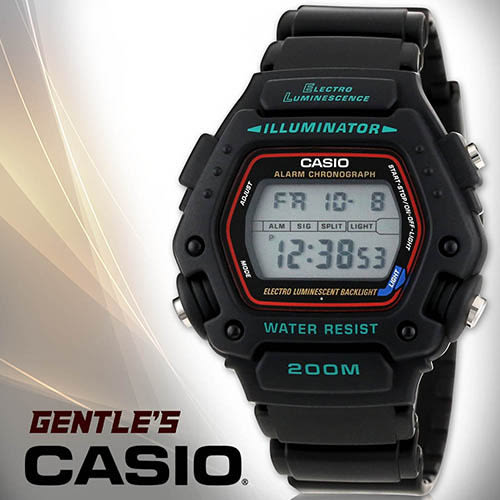 CASIO手錶專賣店 卡西歐 DW-290-1VS 男錶 電子錶 當兵 學生 防水200米礦物玻璃 EL冷光照明 塑膠錶帶