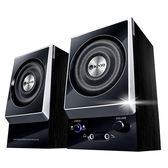 哈GAME 族免 可 耐嘉KINYO KY 1007 二件式木質立體擴大音箱全木質打造耳機麥克風輸入