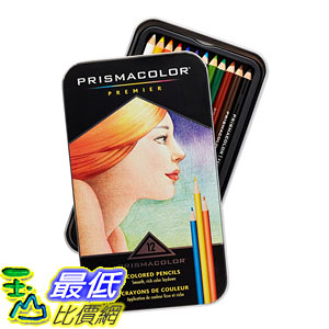 [104美國直購] Prismacolor 3596T Premier Colored Woodcase Pencils, 12 Assorted Colors/set 色鉛筆