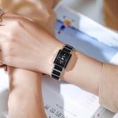 方形手錶方形鋼帶手錶女士學生簡約氣質精致小巧細帶復古錶盤時尚大氣防水 玩趣3C