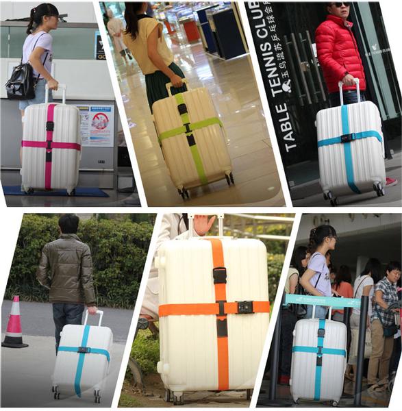 Qmishop 旅行防摔一字打包帶行李箱綑綁帶 【J1597】