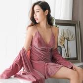 私房睡衣秋冬超mini裙金絲絨睡裙女長款情調內衣很仙的性感  瑪麗蘇DF