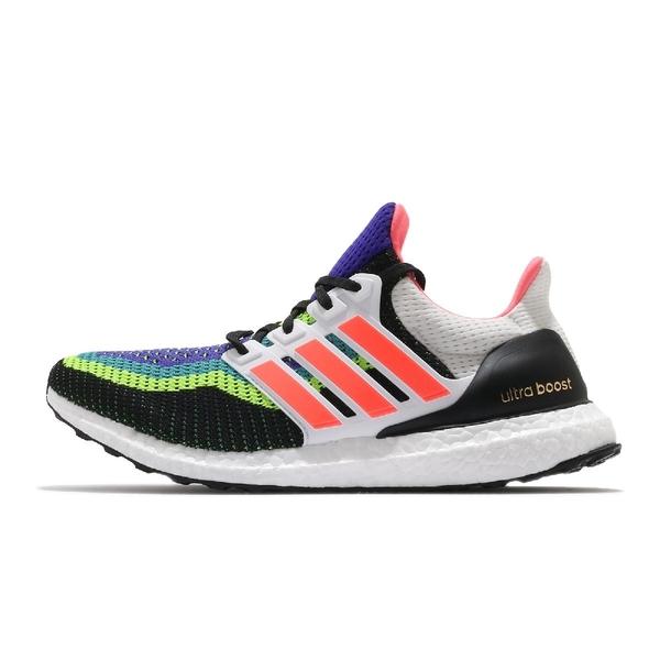 adidas 慢跑鞋 UltraBOOST DNA 白 彩色 男鞋 編織鞋面 Boost 運動鞋 【ACS】 FW8710
