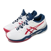 Asics 網球鞋 Court FF 2 白 藍 紅 球王 Novak 亞瑟士【ACS】 1041A083102