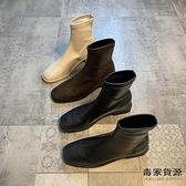 瘦瘦鞋小短靴韓版單靴春秋靴子秋冬方頭馬丁靴女【毒家貨源】