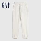 Gap女童 Logo基本款鬆緊針織褲 619588-灰白色