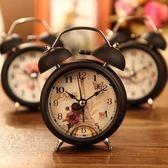 鬧鐘 學生創意床頭時尚簡約靜音鬧鐘鬧表台鐘金屬小鬧鈴帶夜燈鈴聲很響igo 玩趣3C