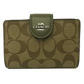 【COACH】新款C LOGO鈔票零錢袋中夾(C LOGO-橄欖綠)