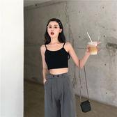 港風短款百搭外穿小吊帶女夏季2019新款修身打底衫簡約背心上衣 萊俐亞