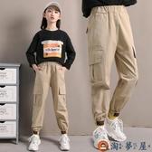 女童工裝褲夏季兒童褲子運動薄款長褲【淘夢屋】