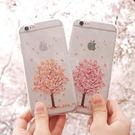 韓國 櫻花季 透明軟殼 手機殼│iPhone 5S SE 6 6S 7 8 Plus X XS MAX XR LG G5 G6 Q6 G7 Q7 Q8 V20 V30 V35│e6159