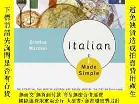二手書博民逛書店Italian罕見Made SimpleY256260 Cristina, Mazzoni Broadway