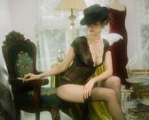【新年鉅惠】凡爾賽性感睡衣蕾絲邊透明內衣黑色誘惑連體衣