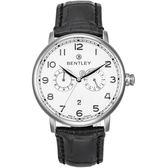【BENTLEY】賓利 Denarium系列 羅馬簡約風尚手錶 (白/黑 BL1690-20001)